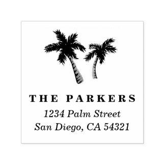 Palme-Adressen-Briefmarke Permastempel