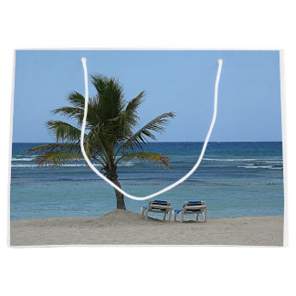 Palme auf dem Strand Große Geschenktüte