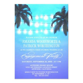 Palme beleuchtet Verlobungs-Party Einladungen
