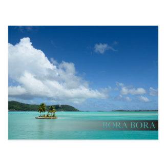 Palme Bora Bora in der Lagune-Barpostkarte Postkarten