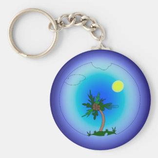 Palme im Meer Schlüsselanhänger