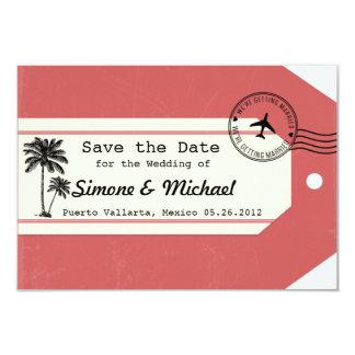 Palme-Reisethema Gepäck-Umbau Save the Date Karte