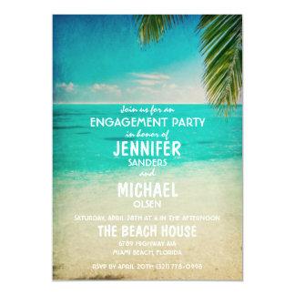 Palmen auf dem Strand-Verlobungs-Party laden ein 12,7 X 17,8 Cm Einladungskarte