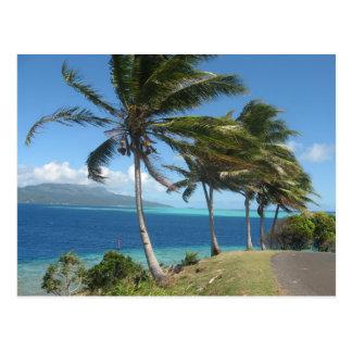 Palmen auf der Insel von Taha'a    Tahiti Postkarte