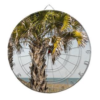 Palmen auf Myrtle Beachostküsten-Promenade Dartscheibe