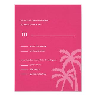 Palmen, die RSVP/Response Karten (Rosa, Wedding 10,8 X 14 Cm Einladungskarte
