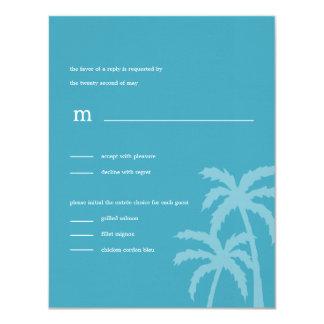 Palmen, die RSVP/Response Karten Wedding sind 10,8 X 14 Cm Einladungskarte