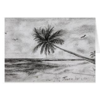 Palmen durch das Meer Karte
