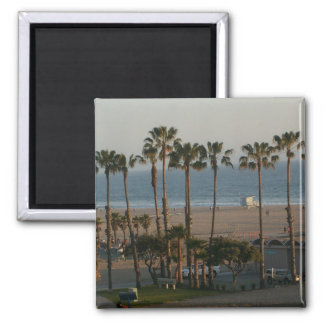 Palmen in Santa Monica Magneten Quadratischer Magnet