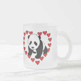 Panda-Bärn-Liebe Matte Glastasse