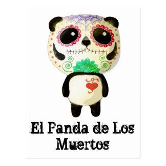 Panda des Tages der Toten Postkarte