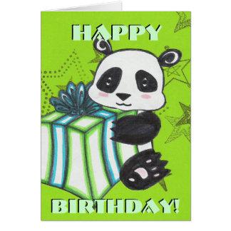 Panda-Geburtstags-Karte Grußkarte