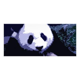 Panda-Gesichts-Pop-Kunst-Gestell-Karte Bedruckte Werbekarten
