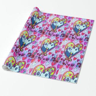Panda-Liebe Geschenkpapier