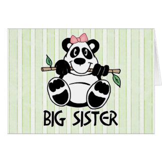Panda-Mädchen-große Schwester Karte