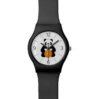 Panda mit einem Basketbalball Uhr
