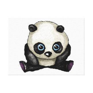 Panda-Wasserfarbe Gespannter Galerie Druck