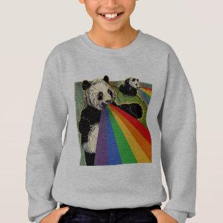 Pandas, die Regenbogen von ihren Mündern schießen Sweatshirt