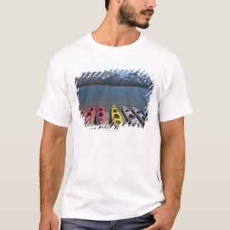 Panorama der Kajaks auf Bernard See in Alaska T-Shirt
