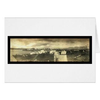 Panorama-Foto 1899 Nome Stadt-AK Karte