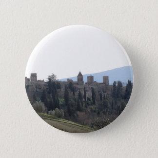 Panorama von Certaldo Dorf, Provinz von Florenz Runder Button 5,7 Cm