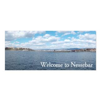 Panorama von Nesebur Stadt, Bulgarien 10,2 X 23,5 Cm Einladungskarte