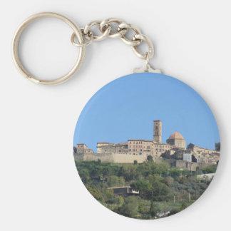 Panorama von Volterra Dorf. Toskana, Italien Schlüsselanhänger