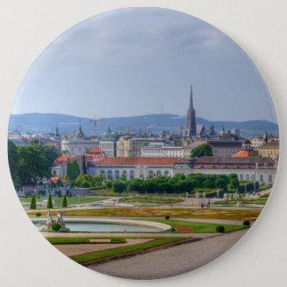 Panoramablick über Wien Österreich vom Belvedere Runder Button 15,3 Cm