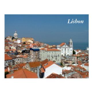 Panoramablick von Lissabon Postkarte