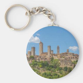 Panoramablick von San Gimignano Toskana Italien Schlüsselanhänger
