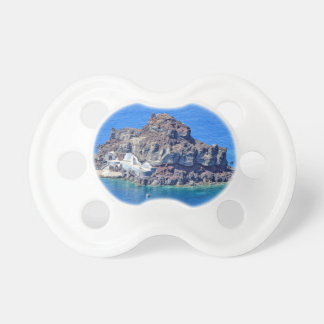 Panoramablick von Santorini Schnuller