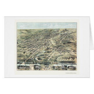 Panoramische Karte Akrons, OH- - 1870