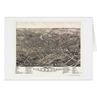 Panoramische Karte Akrons, OH- - 1882