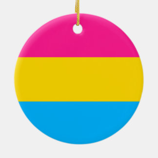 """PANSEXUAL STOLZ-FLAGGE "" KERAMIK ORNAMENT"