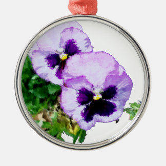 pansy16watercolor1-15 silbernes ornament