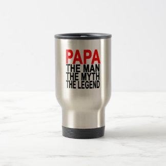 Papa der Mythos der Mann die Legende Edelstahl Thermotasse