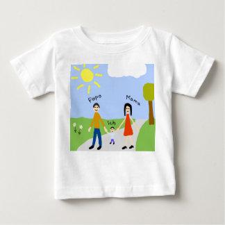 Papa Mama und Ich Baby T-shirt