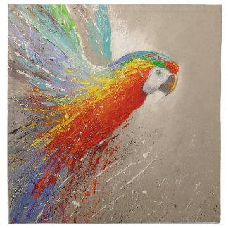 Papagei Stoffserviette