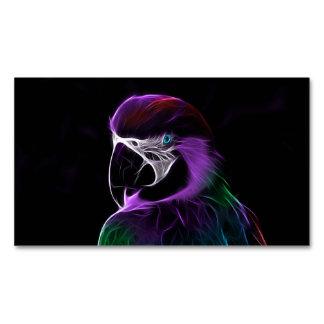 Papagei Visitenkartenmagnet