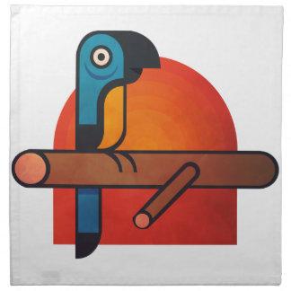 Papageien-Cartoonkunst Serviette