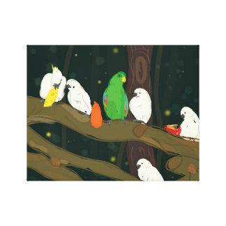 Papageien-Königreich Galerie Gefaltete Leinwand