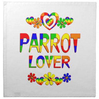 Papageien-Liebhaber Stoffserviette
