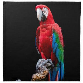 Papageien-Porträt Stoffserviette
