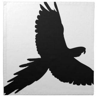 Papageien-Silhouette Serviette