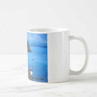 Papageientaucher bei Skellig Michael Kaffeetasse