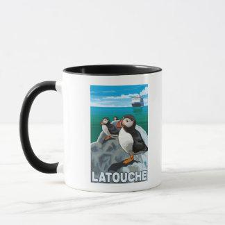 Papageientaucher u. Kreuzschiff - Latouche, Alaska Tasse