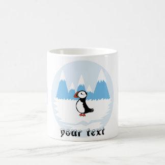 Papageientaucherillustration Kaffeetasse