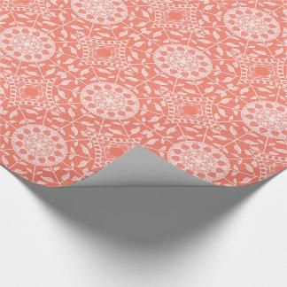 Papaya-Mandala Geschenkpapier