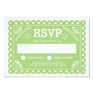Papel Picado Hochzeit UAWG Grün 8,9 X 12,7 Cm Einladungskarte