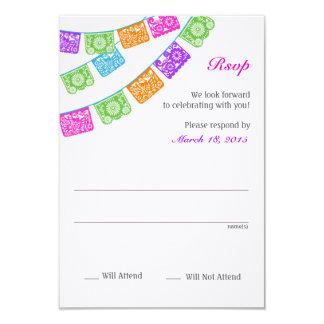Papel Picado uAwg Mehrfarben 8,9 X 12,7 Cm Einladungskarte